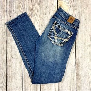 BKE Denim Distressed Madison Skinny Stretch Jeans